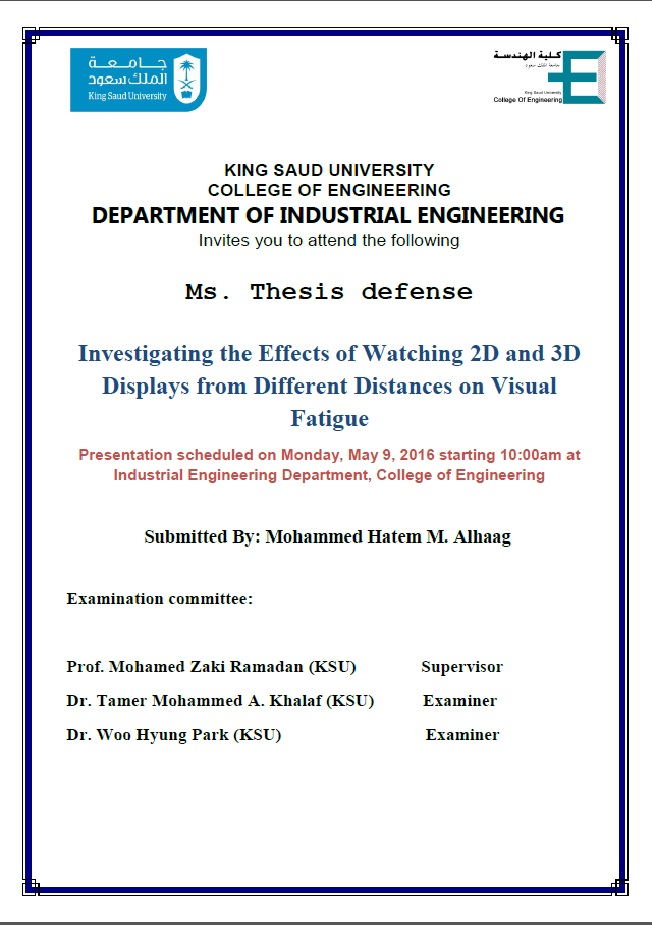 ms thesis defense Unexploded ordnance (uxo) is a worldwide problem, which causes deaths and injuries to people living in post-conflict areas it also forbids former military training.