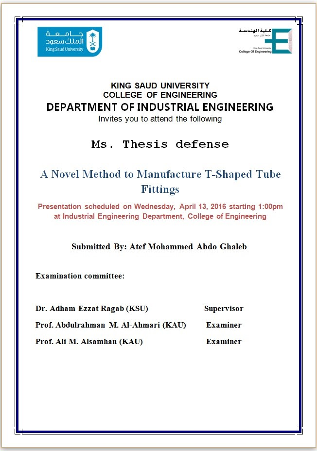 Mechanical engineering master thesis